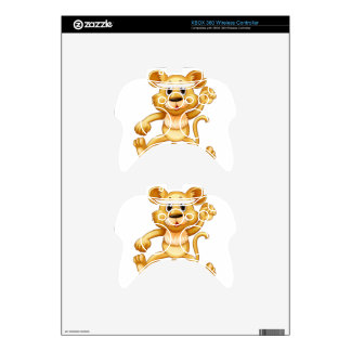 Cute little cub jumping xbox 360 controller decal
