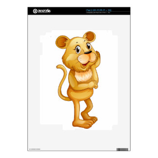 Cute little cub standing alone skin for the iPad 2