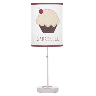 Cute Little Cupcake Personalized Lamp Lamps