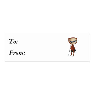 cute little devil boy Double-Sided mini business cards (Pack of 20)