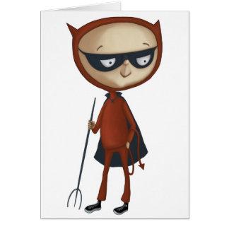 cute little devil boy greeting cards