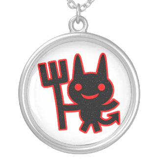 Cute Little Devil Silver Plated Necklace