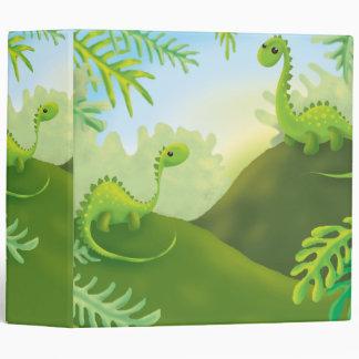 cute little dinosaur land scene 3 ring binder