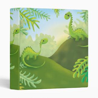 cute little dinosaur land scene vinyl binders
