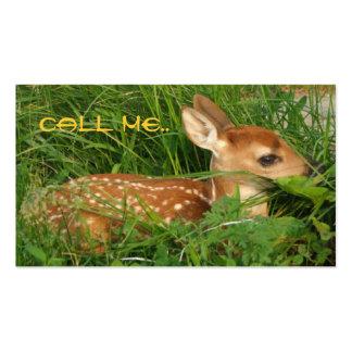Cute Little Doe Contact Card Business Card