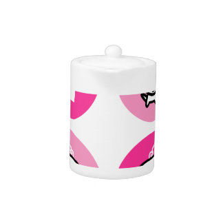 Cute little Dog and Dog princess Collection PINK Teapot