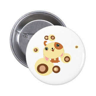 cute little dog button