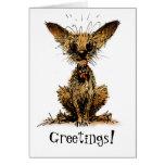 Cute little dog greeting card