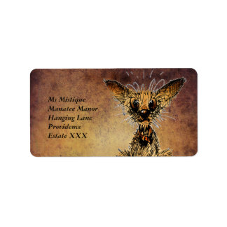 Cute little dog personalized address labels