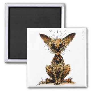 Cute Little Dog 2 Inch Square Magnet
