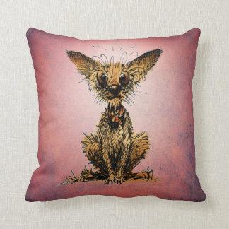Cute Little Dog on Pink Throw Pillow