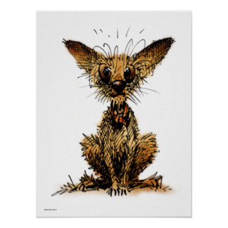 Cute Little Dog Poster