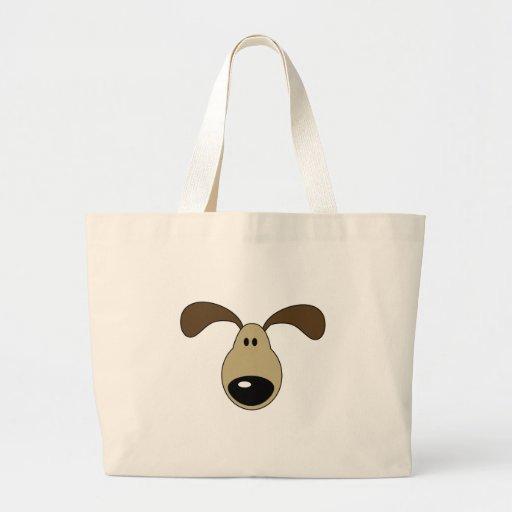Cute Little Doggy Face Jumbo Tote Bag