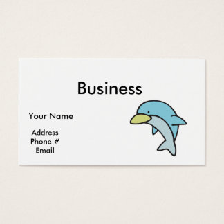 cute little dolphin business card