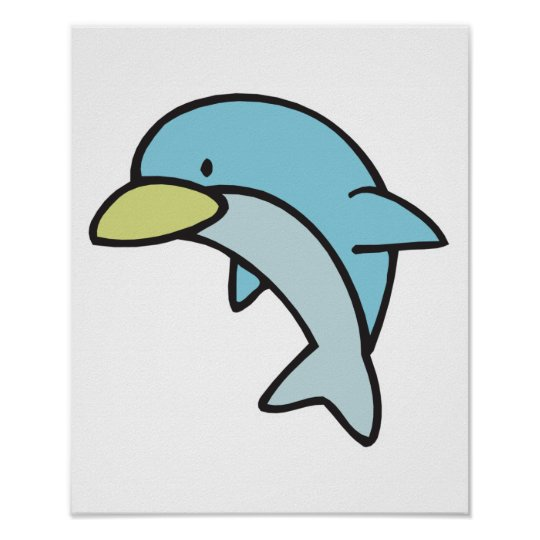 cute little dolphin poster