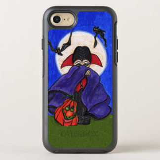 Cute Little Dracula Purple Cape Pumpkin Bats Moon OtterBox Symmetry iPhone 8/7 Case