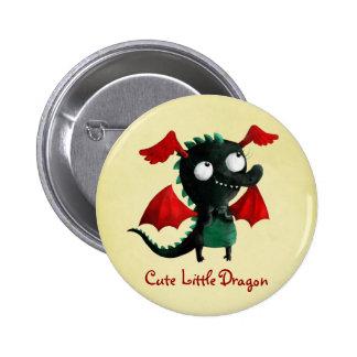 Cute Little Dragon Pinback Button