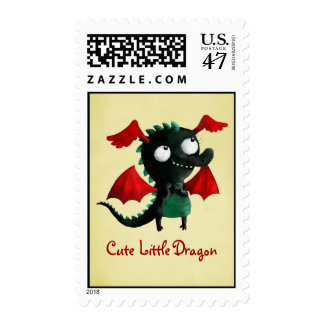 Cute Little Dragon Postage Stamp