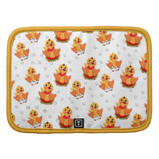 Cute Little Ducks and Water Bubbles Pattern Organizers