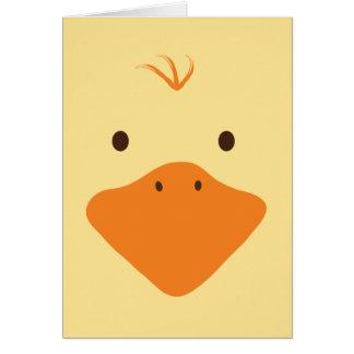 Cute Little Ducky Face Card