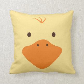 Cute Little Ducky Face Throw Pillows