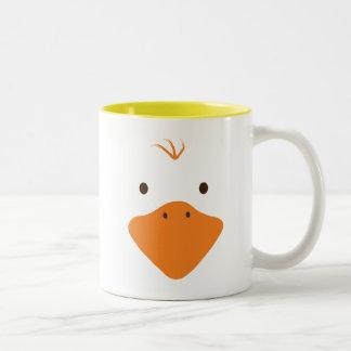 Cute little Ducky Face Two-Tone Coffee Mug