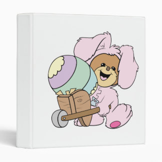 cute little easter bunny bear with giant easter eg 3 ring binders