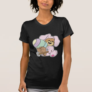 cute little easter bunny bear with giant easter eg t-shirts