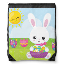 Cute Little Easter Bunny Drawstring Backpack