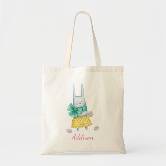 Cute Little Easter Bunny   Personalized Tote