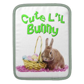 Cute Little Easter Bunny with Easter Eggs Sleeves For iPads