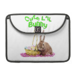 Cute Little Easter Bunny with Easter Eggs Sleeves For MacBooks