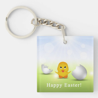 Cute Little Easter Chick - Acrylic Keychain