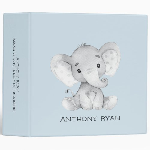 Cute Little Elephant Boys Baby Photo Album Binder