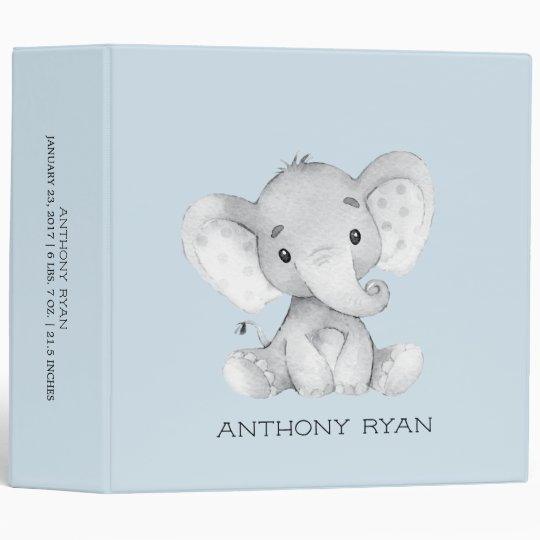 cute little elephant boys baby photo album binder