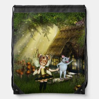 Cute Little Fairy Drawstring Bag
