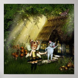Cute Little Fairy Poster