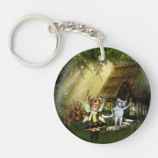 Cute Little Fairy Single-Sided Round Acrylic Keychain