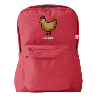 cute little farm chicken hen american apparel™ backpack