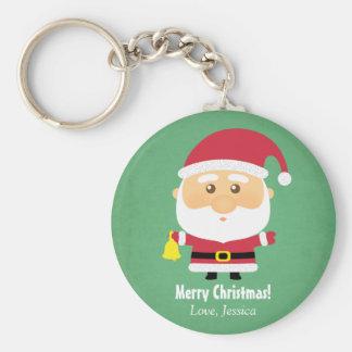 Cute Little Father Santa Claus Christmas Keychain