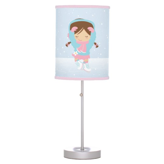 Cute Little Figure Skater Desk Lamp