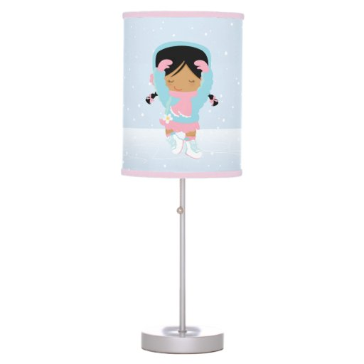 Cute Little Figure Skater Desk Lamp