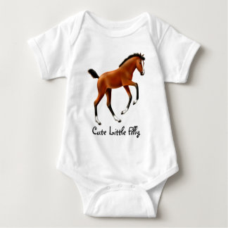 Cute Little Filly Infant Creeper