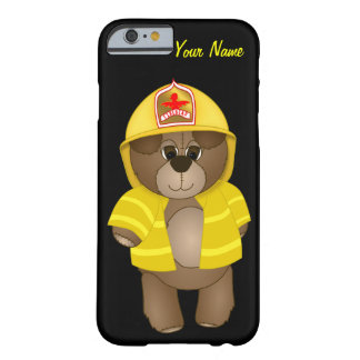 Cute Little Firefighter Kids Teddy Bear Cartoon Barely There iPhone 6 Case