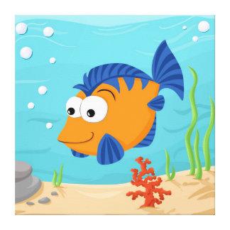 Cute little fish canvas print
