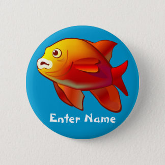 Cute Little Fish Cartoon Button