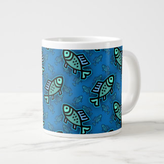 Cute Little Fish Pattern Large Coffee Mug