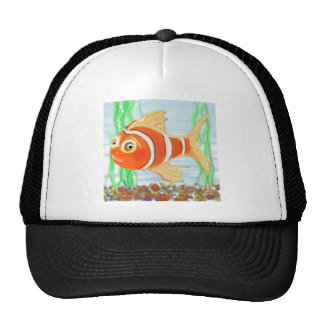 Cute Little Fishie Swimming In A Pool Trucker Hat