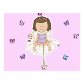 Cute Little Flower Fairy Girl Postcard