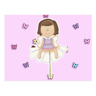 Cute Little Flower Fairy Girl Postcard